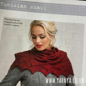 A beautiful Tunisian Crochet Shawl - My last WIP at the moment www.yarnya.co.uk