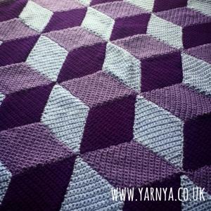 A peep into my WIP pile www.yarnya.co.uk Cube Blanket (1)