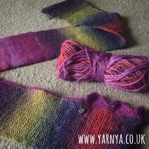 A peep into my WIP pile www.yarnya.co.uk Tunisian Crochet Shawl