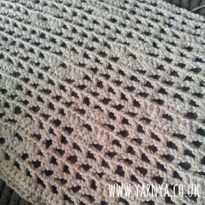 Another WIP - A summery top using filet crochet www.yarnya.co.uk