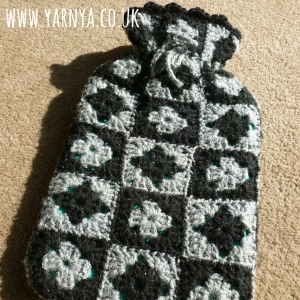Mash together patterns or use small parts to test your creativity www.yarnya.co.uk Granny Square Hot Water Bottle Cover