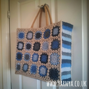 Mash together patterns or use small parts to test your creativity www.yarnya.co.uk Jute Bag Cover