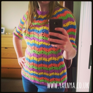 My all time favourite finished projects (so far) www.yarnya.co.uk Stripy Happy Jumper (2)