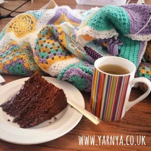 Midweek Roundup of my BAMCAL Blanket Progress www.yarnya.co.uk