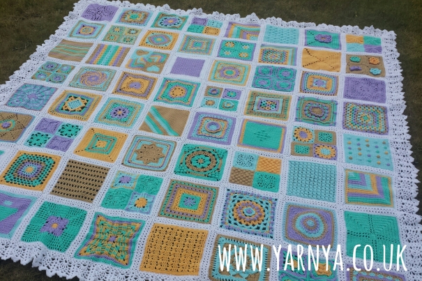 The Big Reveal - My BAMCAL Blanket is Finished! www.yarnya.co.uk