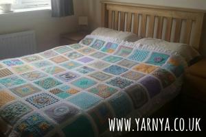 The Big Reveal - My BAMCAL Blanket is Finished! www.yarnya.co.uk