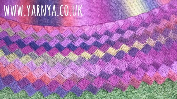 Big Reveal - My Wonderful Tunisian Crochet Shawl www.yarnya.co.uk