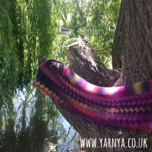 Big Reveal - My Wonderful Tunisian Crochet Shawl www.yarnya.co.uk