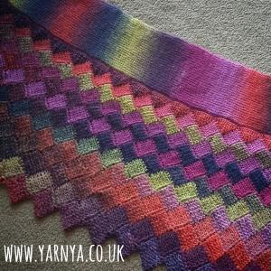Big Reveal - My Wonderful Tunisian Crochet Shawl www.yarnya.co,uk