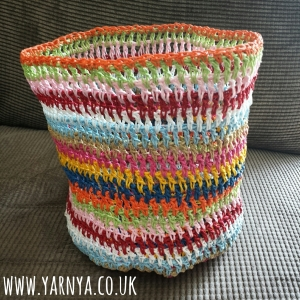 Using materials other than yarn in crochet www.yarnya.co.uk