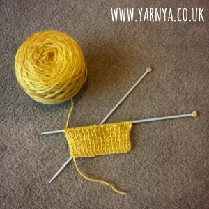 Knitting progress - textures and patterns www.yarnya.co.uk