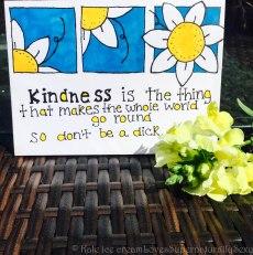 Create a beautiful kindness haiku on a nice, homemade card