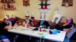 Throw a conspiracy theorist party complete with tin foil hats and suspicious guests