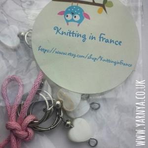 Yarn, yarn, beautiful yarn www.yarnya.co.uk Knitting in France Etsy Needle Holder and Stitch Markers