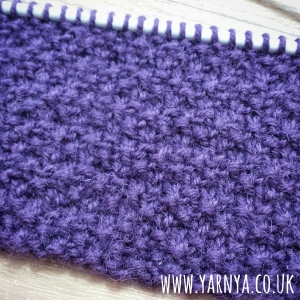 Sunday Sevens (13th September 2015) www.yarnya.co.uk Knitting Moss Stitch