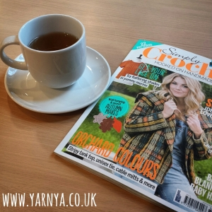 Sunday Sevens (20th September 2015) www.yarnya.co.uk Peppermint tea and Simply Crochet magazine