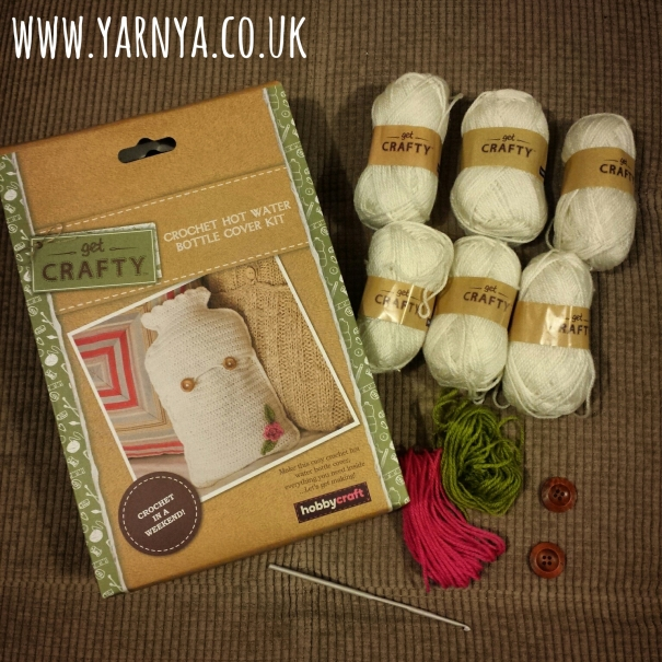 Friday Find (9th October 2015) - Birthday Craft Kits Review www.yarnya.co.uk Crochet Hot Water Bottle