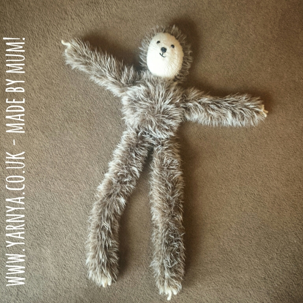 Friday Find (24th September 2015) - Larry the Sloth! www.yarnya.co.uk - Made by Mum!