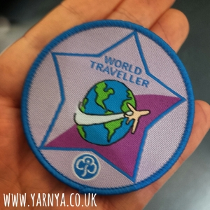 Sunday Sevens (11th October 2015) www.yarnya.co.uk Girlguiding world traveller badge ICANDO