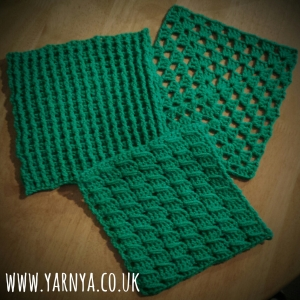 Friday Find (6th November 2015) - Some of my Squares for the Craft Club Yarnbombers www.yarnya.co.uk