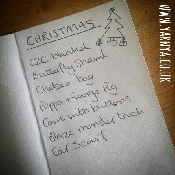 My Progress on my Christmas Gift To-Make List www.yarnya.co.uk