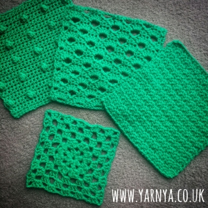 Friday Find (13th November 2015) – All of my Squares for the Craft Club Yarnbombers www.yarnya.co.uk