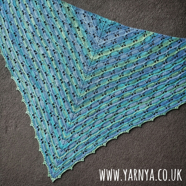 Another one bites the dust ... aka the Butterfly Shawl is COMPLETE! www.yarnya.co.uk